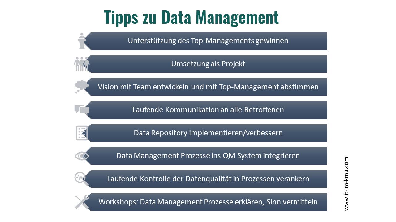 Tipps zu Datamanagement